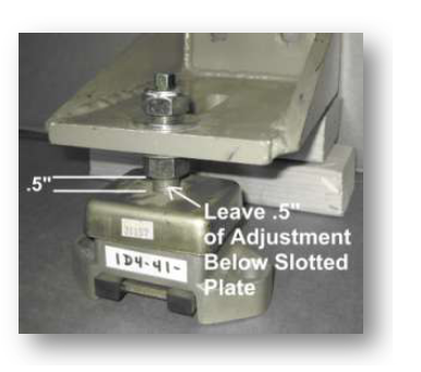 Figure 2 The Vertical Plate Can Be Turned Over If Need For Your Application