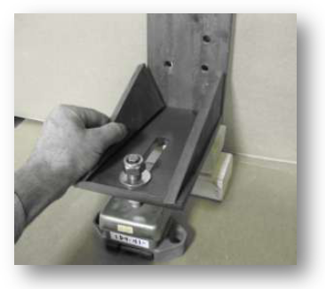 """Figure 3 Be Sure to Leave 1/2"""" of Adjustment Below the Slotted Plate For Later Adjustment"""