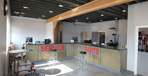 New MER Parts & Service Entrance