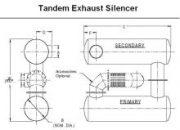 Tandem Exhaust Silencer System