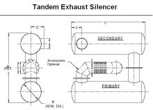 Tandem Exhaust Silencer System