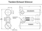 EM Products™ Tandem Exhaust Silencer