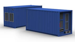 blue industrial generator container power module