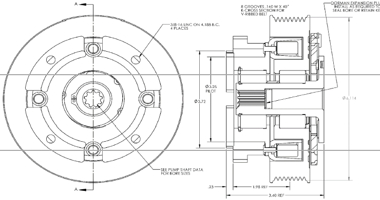Pitts H24K90S Clutch drawing