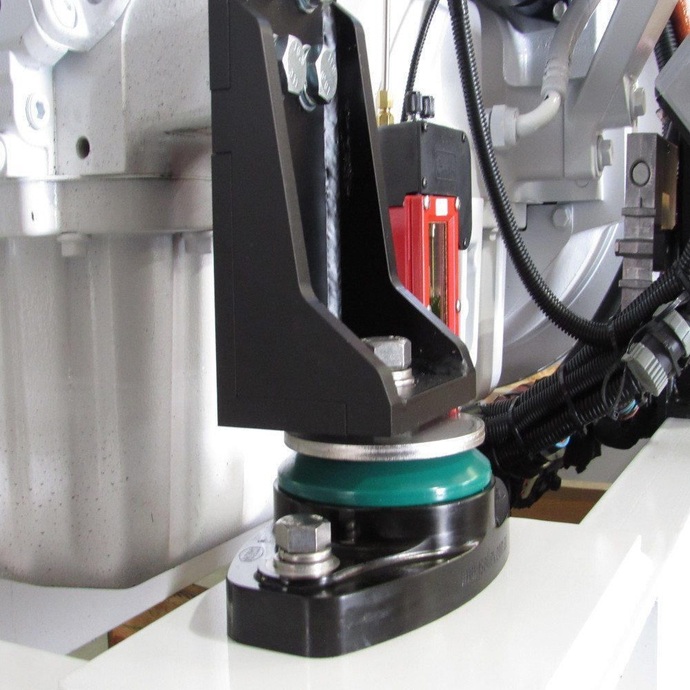 IsoFlex Isolation Mount installed on 200kW generator