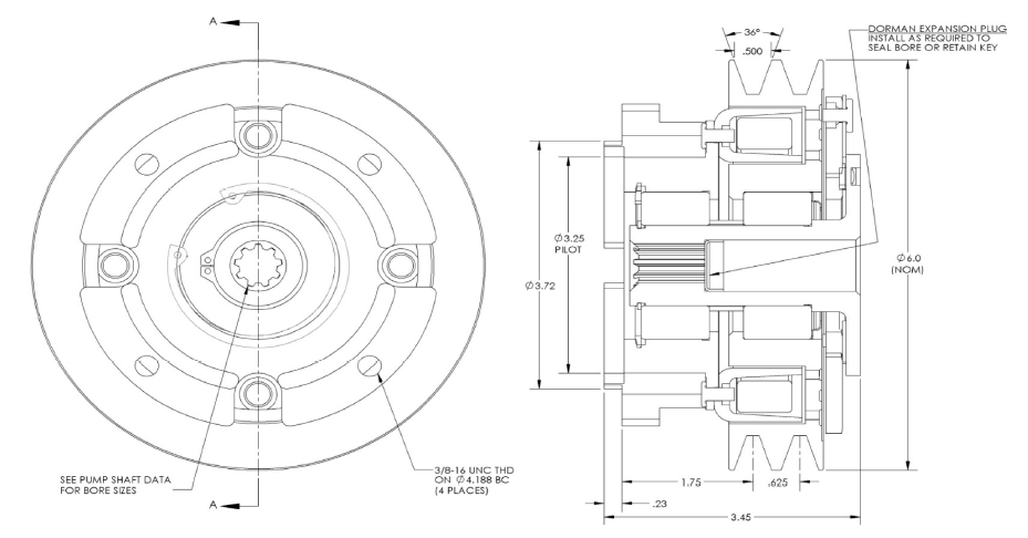 Pitts-H24V90-Clutch drawing
