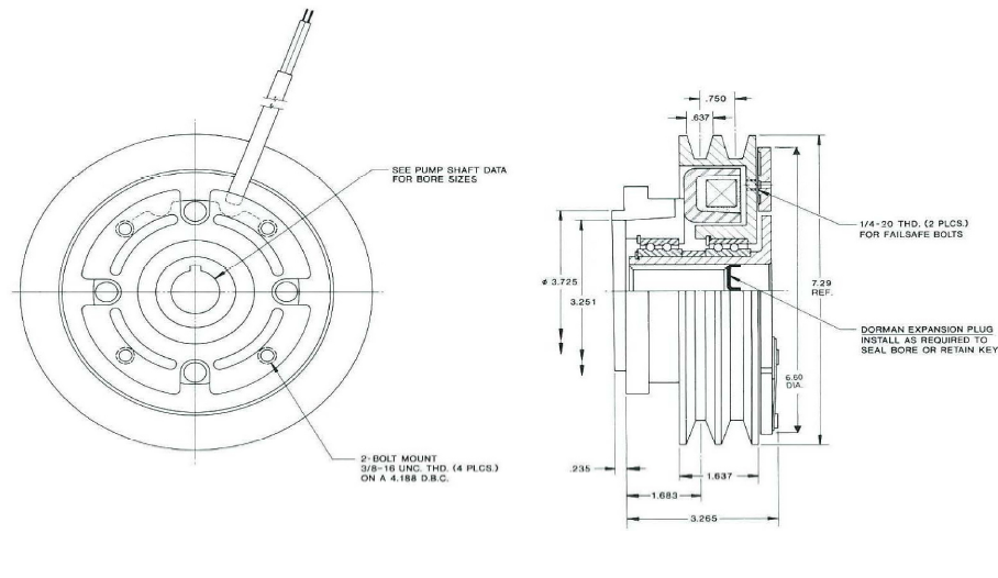 Pitts H27V150 Clutch drawing
