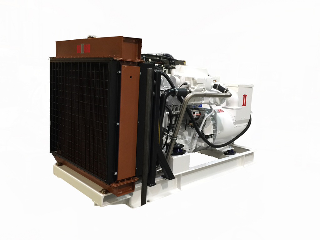 radiator cooled marine generator