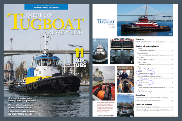 image of American Tugboat Review cover and table of contents
