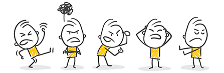 angry cartoon characters